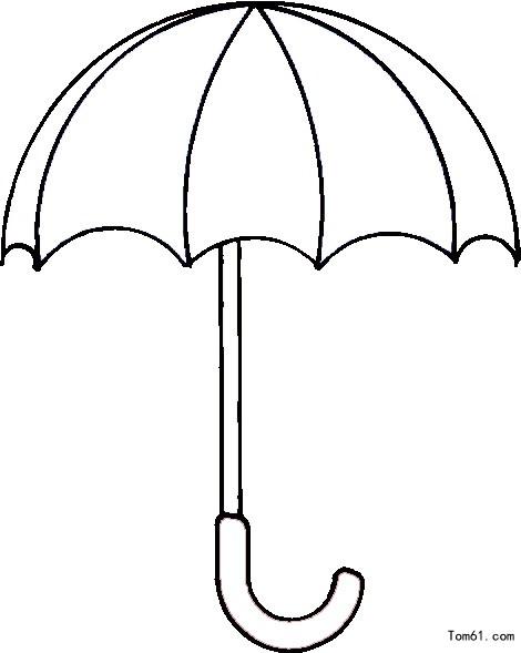 遮阳伞简笔画图片大全_伞图片_简笔画图片_少儿图库_中国儿童资源网